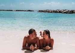 Avila's sandy white private beach