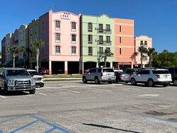 Colorful building facade.