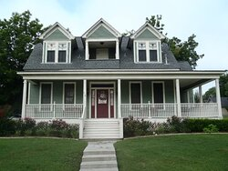 Derrich Domov has 4 bedrooms and 4 bathrooms with a large sunroom, full kitchen, and both front and back decks.  It was built in the 1890's and was restored in 2005.