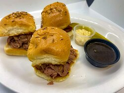 Beef on Weck Sliders. Introduced on popular demand as an appetizer!