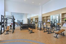 Interior view of AvaniFit Health Club with equipment