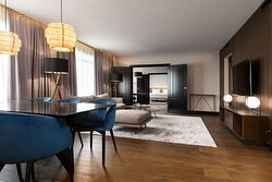 Presidential Suite, focus on living and dining room areas