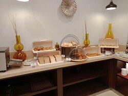 Bread area during breakfast