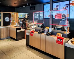 Front Counter with COVID Safety Measures