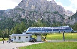 la stazione a valle Plans