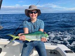 Mahi-mahi and one happy boysailfish