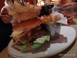 triple hamburguesa
