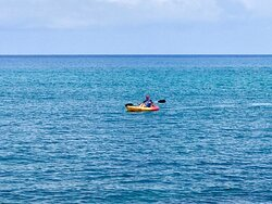 Kayaks and stand up paddle board are included