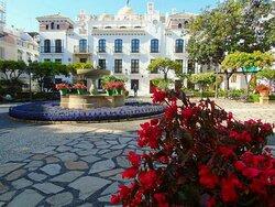 The beautiful Plaza de las Flores, the centre of the town of Estepona