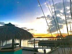 Sunset at Snug Harbor