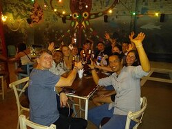 Our group, including guides, got together after our trek concluded in Santa Marta.
