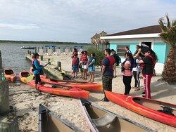 Kayak tour around the islands.
