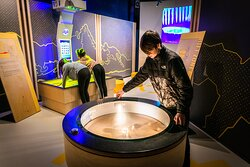 Interactive exhibits in 'We are Discovering' Zone