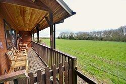 Veranda of Family  Lodge 12 Dalby