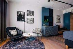 Vintage design guest room