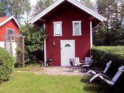 Lilla stugan med plats för 2-4 personer.