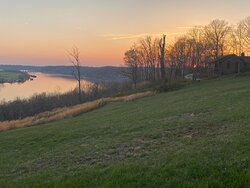 Evening view of the Ohio River
