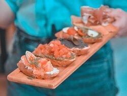 Mixed Bruschettas from our starters menu