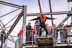 Brave the highest heights at SKYTrek - complete with fan descender free-fall, 90 metre Zip line and 30-foot multi-level climbing wall!