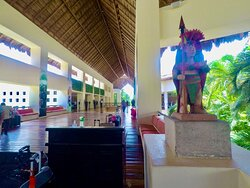Bell stand at The Occidental Xcaret Resort where our drivers contact You to take You back to the Cancun Airport