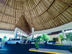 Driveway and bell stand at The Occidental Xcaret Resort where We also provide our transport services