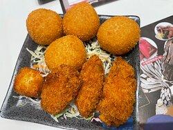 Cutlet Oyster, deep fried durian