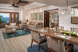 Oceanfront Suite Living And Dining Areas
