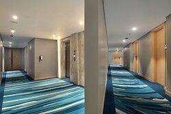 Hallway of Holiday Inn Express Jakarta Wahid Hasyim