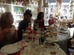 Mad Hatters' afternoon tea at Karmens Vintage Tea Room