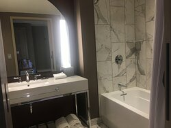 Room with tub/shower combo