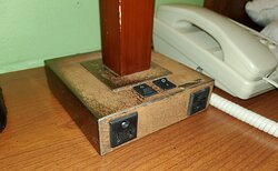 Rusted bedside lamp