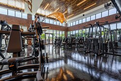 Get a real workout in at the brand new, fully equipped gym.