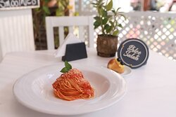 Spaghetti al pommodoro e basilico  Spaghetti tomate y albaja