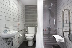 All our accessible bathrooms are wheelchair friendly