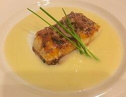 Honey Glazed Cod with Champagne Sauce