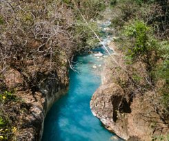 Natural Blue river pools free access for Hotel Guests