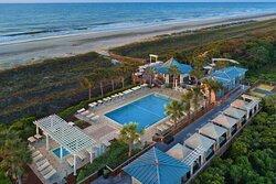 Sea and Surf Club Pool - Aerial View