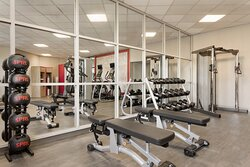 Our large fitness center allows you to keep up with your routine.