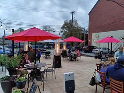 Enjoy the nice weather on Elizabeth's An American Bistro Back Patio