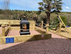 Our new fire pit area for those summer evenings with us