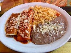 Half of the El Azteca dinner