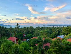 The beautiful panoramic views above native in the villages on the island at Siri Dara Samui