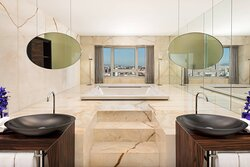 Presidential Suite Bathroom with Panoramic Jacuzzi