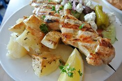Chicken skewer (Souvlaki)