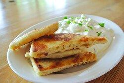 Athenian Grill tzatziki with pita bread