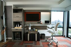 All guest rooms are equipped with ergonomic workstations