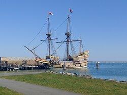 Mayflower docked at Pilgrim Memorial State Park