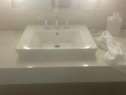 Mold on sink surround