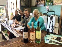 Friends & Wine pair so well! Half Day Wine Tour in April 21. Photo taken @ Robert Stein Winery