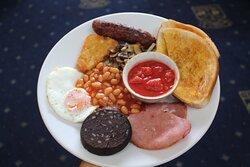 Breakfast before golf.